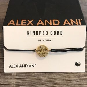 Alex and Ani Be Happy Pull Cord Bracelet